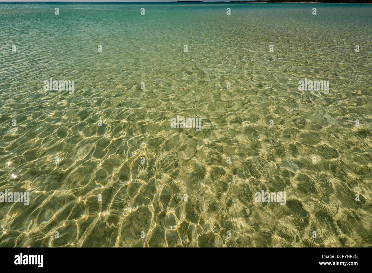 Amazing Beautiful Caribbean Sea,  at Cocodimama Charming Resort, Governors Harbour, Eleuthera, The Bahamas, The Caribbean. - Stock Image