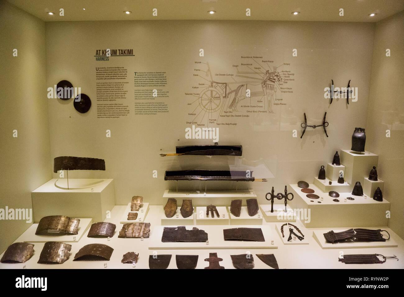 Harness by Urartu Period, Gaziantep Museum Turkey - Stock Image