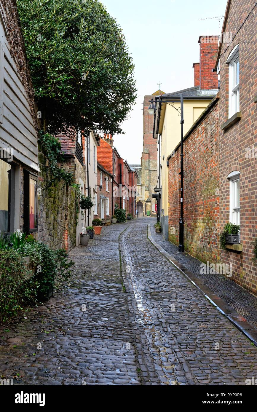 Lombard Street in the west Sussex town of Petworth England UK - Stock Image