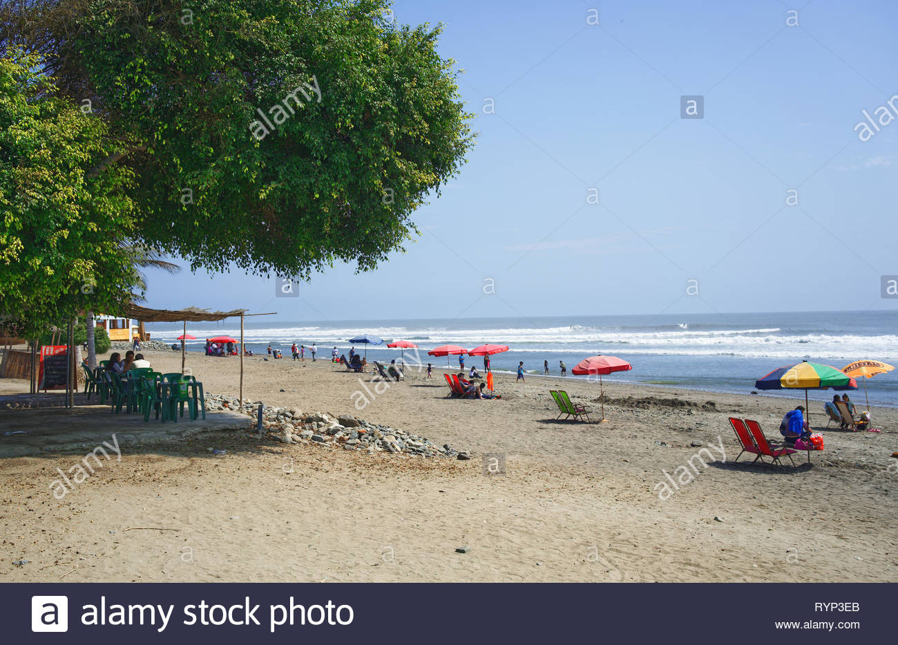 Huanchaco Beach Trujillo Peru On a sommer Day - Stock Image