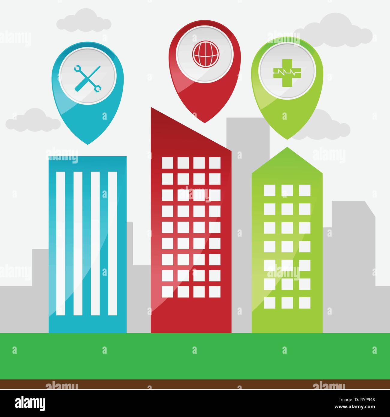 GPS navigation application vector image design illustration Stock Vector