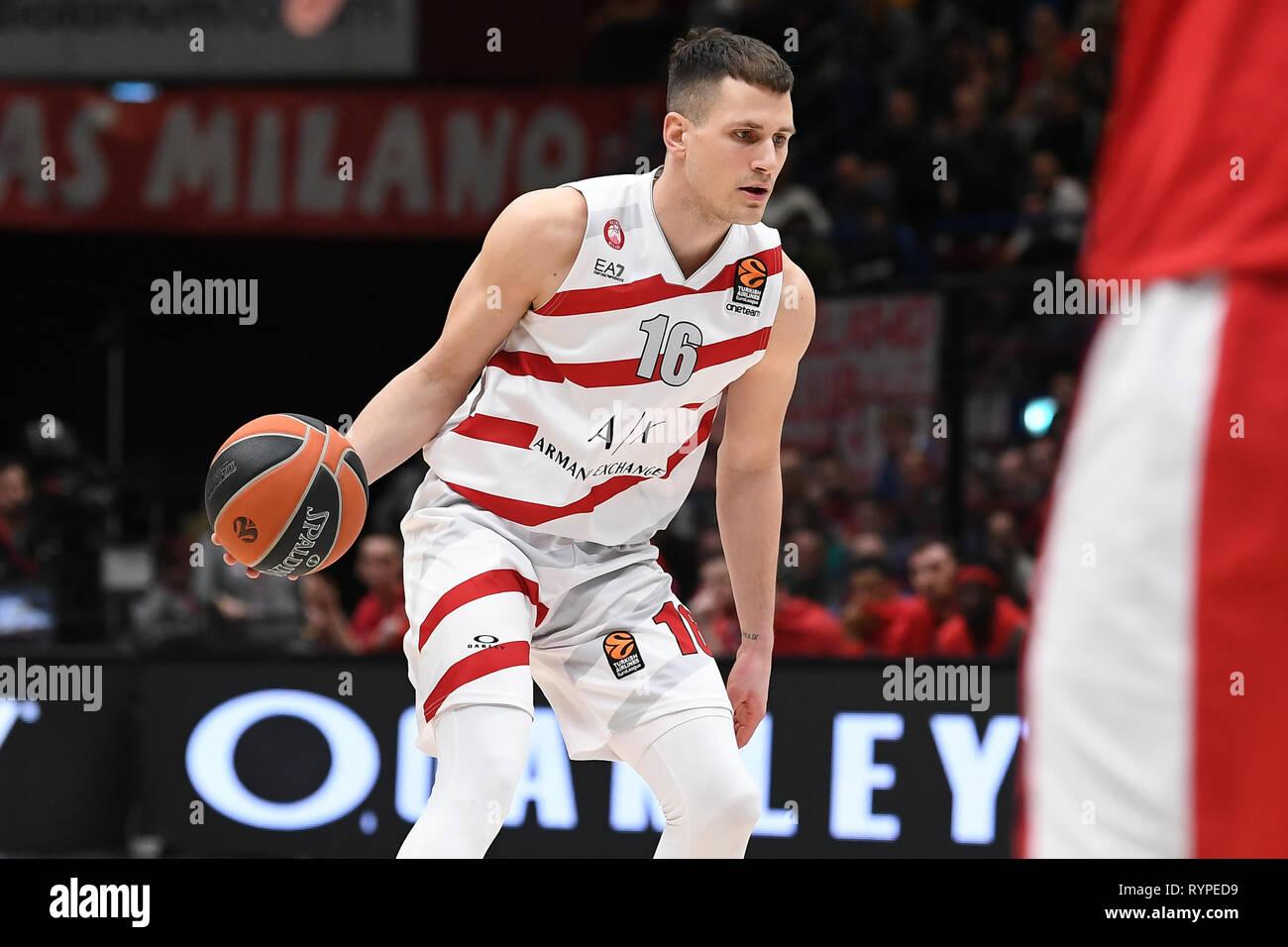673178db96b Foto Claudio Grassi/LaPresse 14 marzo 2019 Assago (MI) Italia sport basket  AX