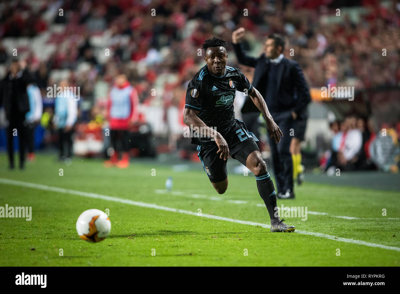 Iyayi Atiemwen Of Gnk Dinamo Zagreb In Action During The