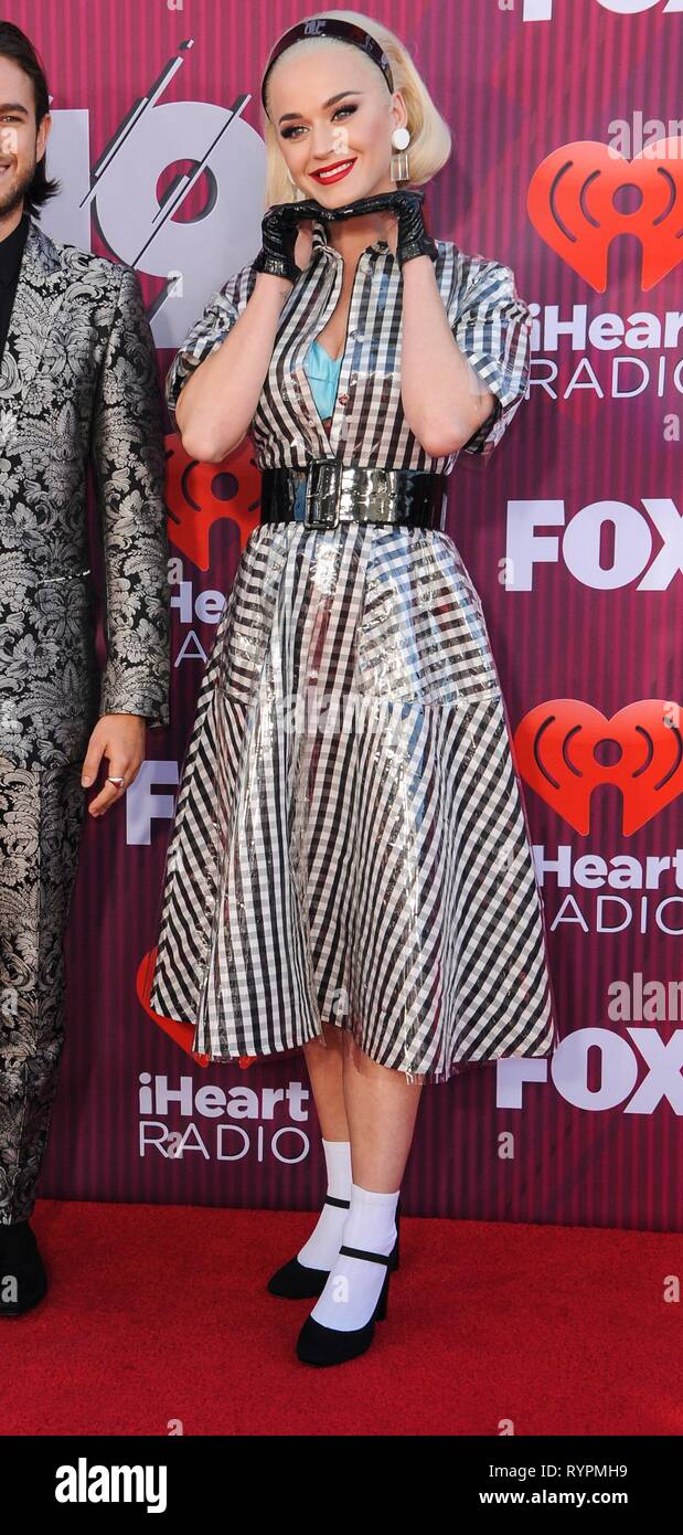 Katy Perry at arrivals for 2019 iHeartRadio Music Awards