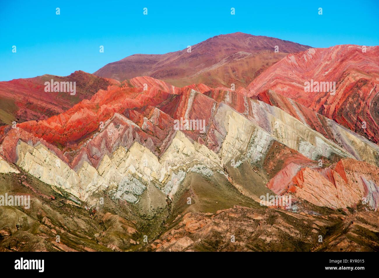 Serrania del Hornocal - Jujuy - Argentina - Stock Image
