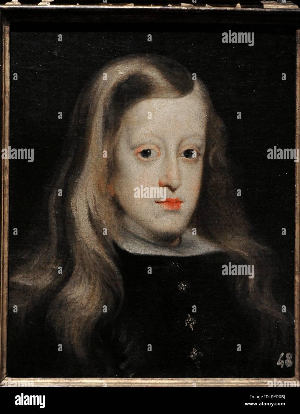 Carlos II (1661-1700). Llamado el Hechizado. Rey de España. Retrato por Juan Carreño de Miranda (1614-1685), hacia 1670. Museo Lázaro Galdiano. Madrid. España. - Stock Image