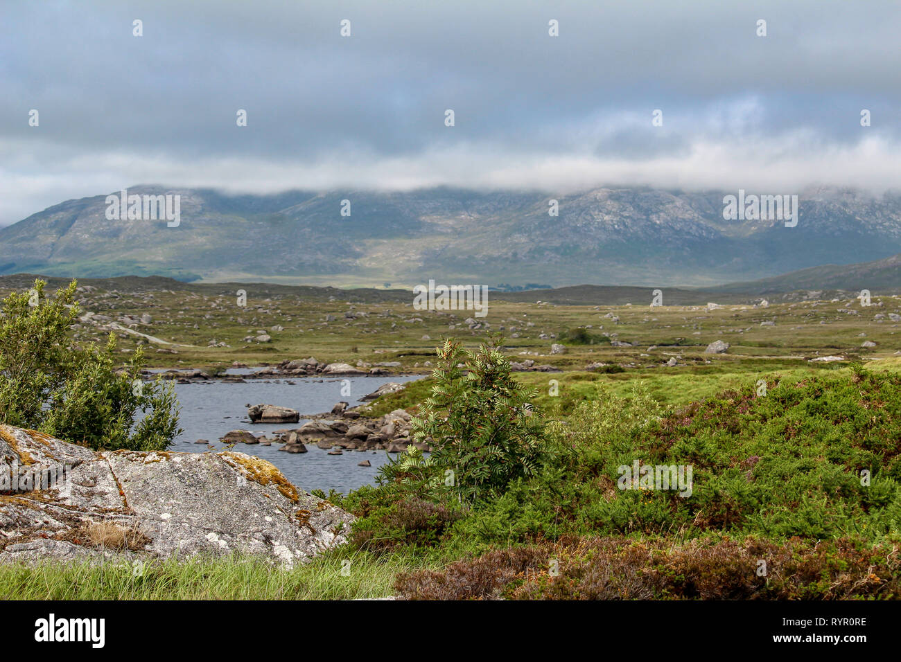 Landscape in Connemara National Park, County Galway, Ireland - Stock Image