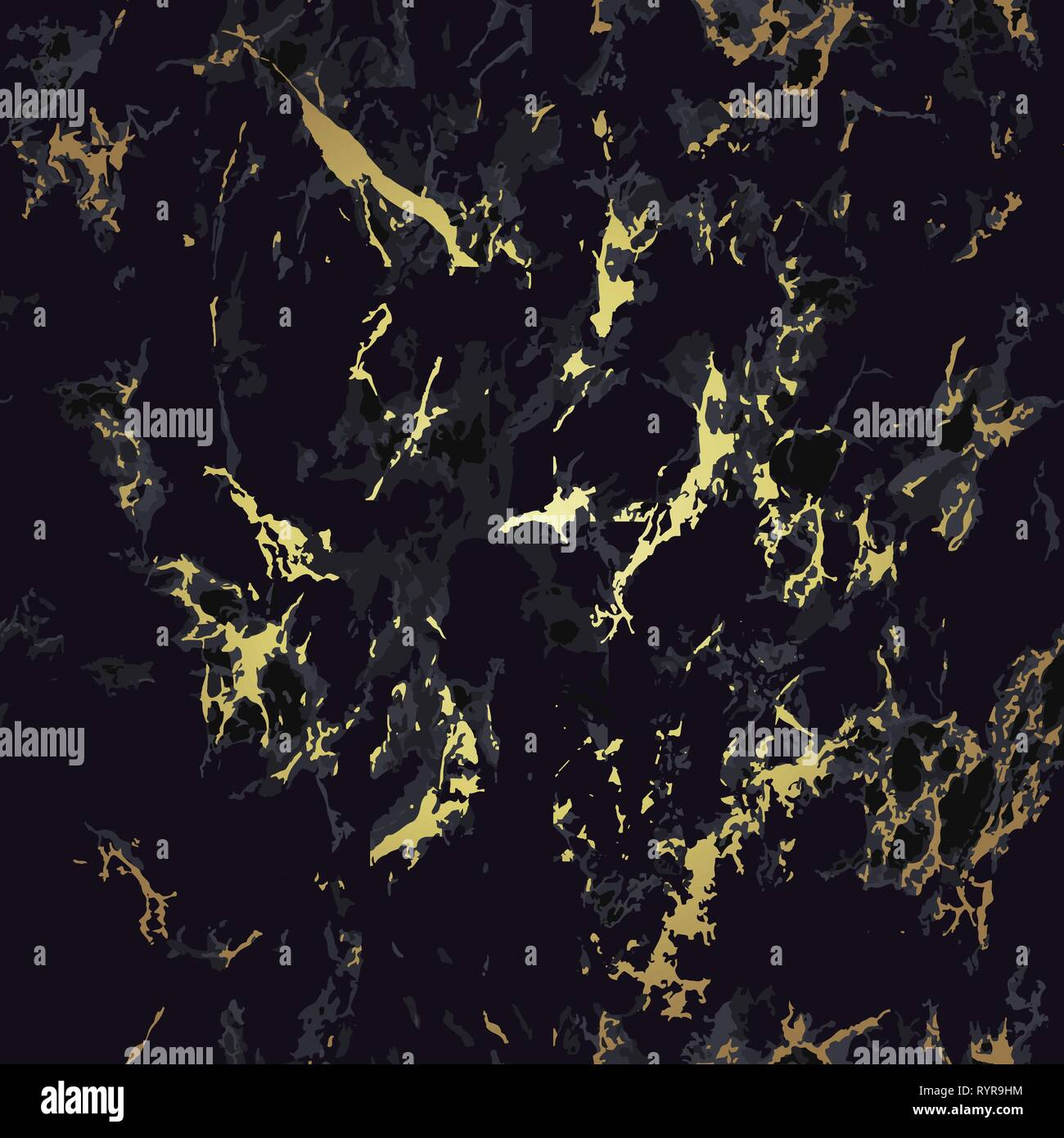 Black And Gold Marble Seamless Texture Pattern Stock Vector Image Art Alamy