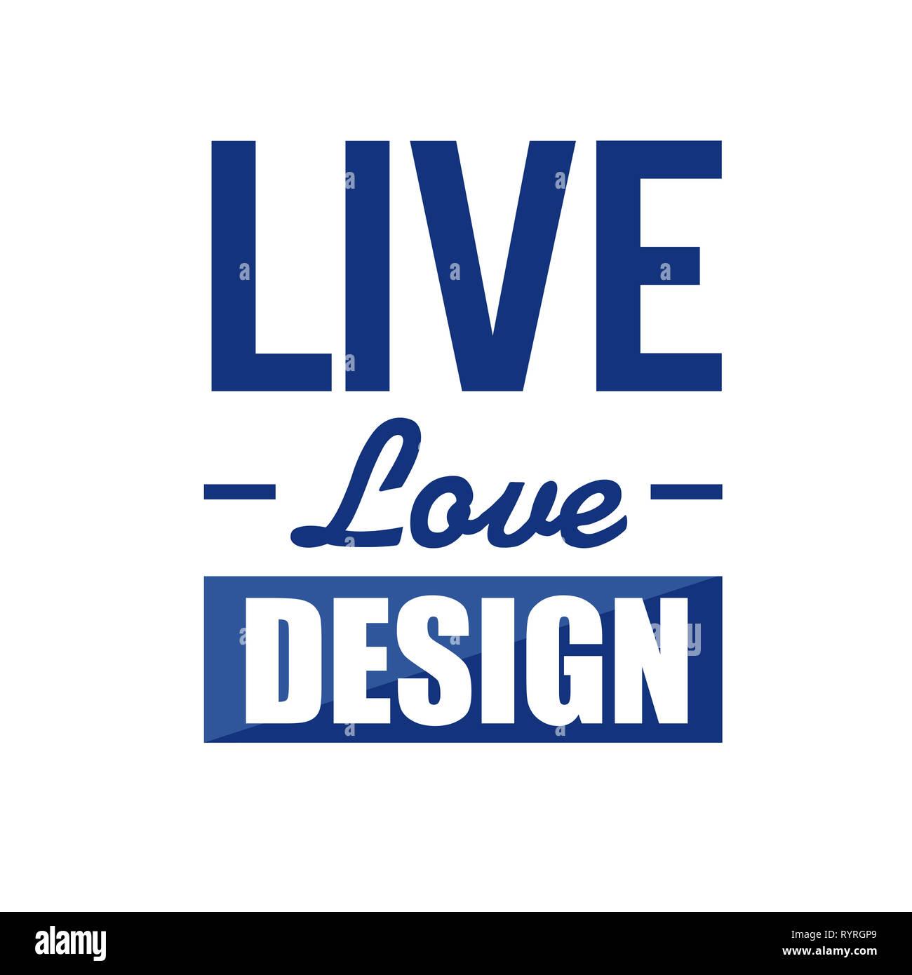 live love design sign concept illustration over a white background Stock Photo