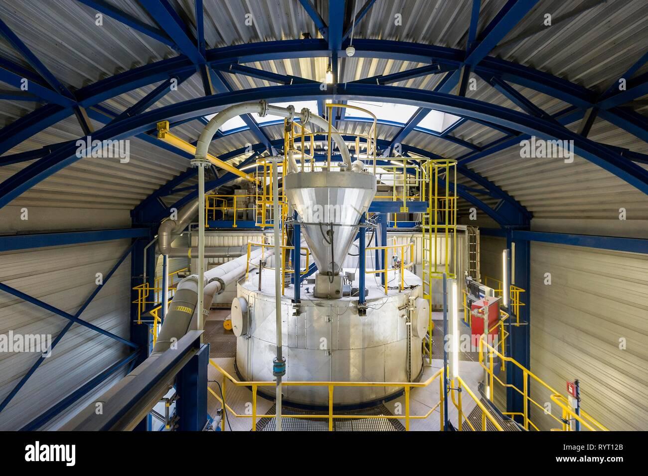 Waste gas purification plant, waste incineration plant, TREA Breisgau, Eschbach, Baden-Württemberg, Germany - Stock Image