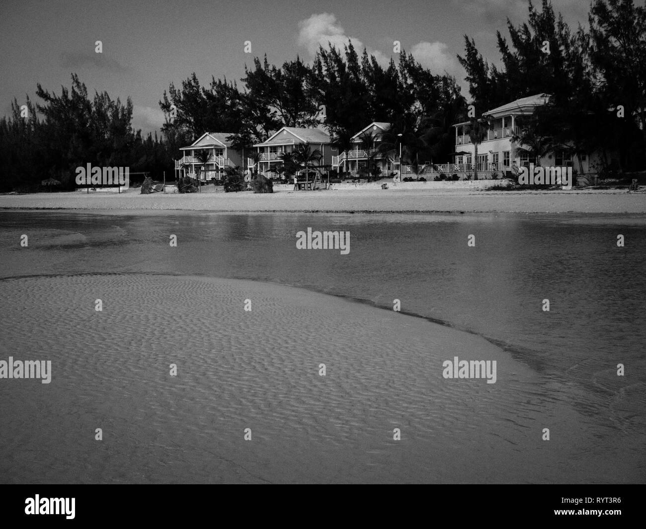Black and White Landscape, Cocodimama Charming Resort, Governors Harbour, Eleuthera, The Bahamas. - Stock Image