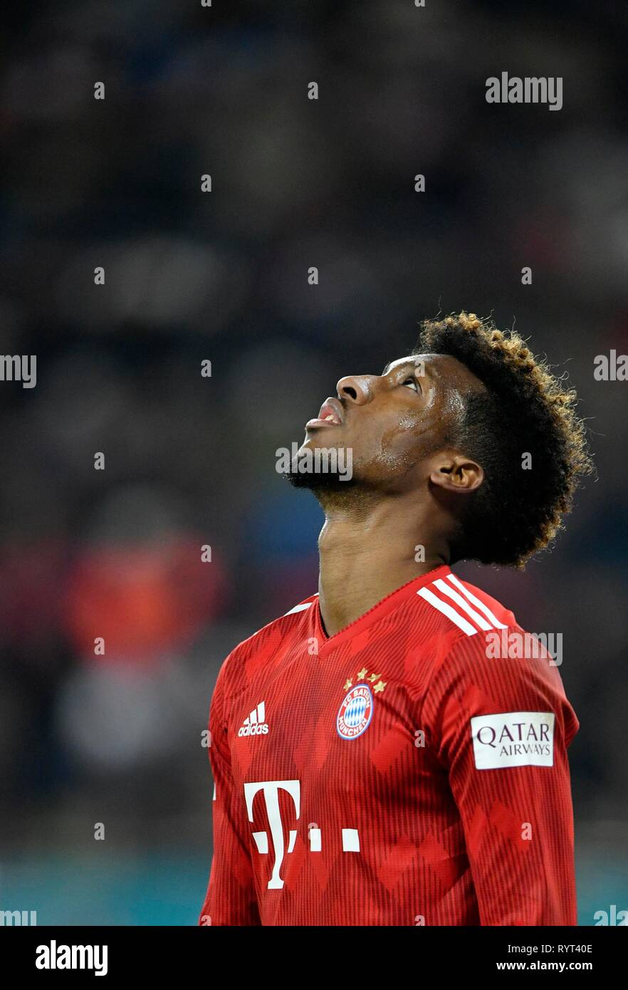 Kingsley Coman FC Bayern Munich, disappointed, WWK Arena, Augsburg, Bavaria, Germany - Stock Image