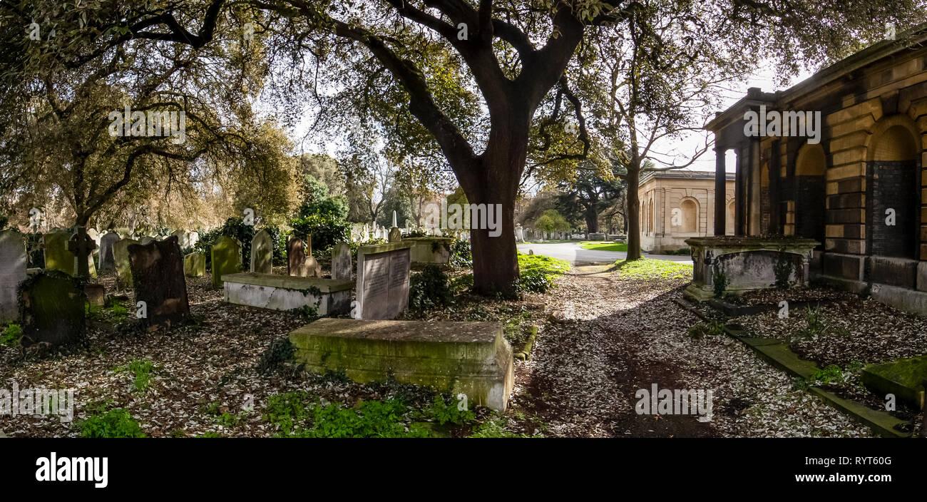 Brompton Cemetery. London. UK Stock Photo