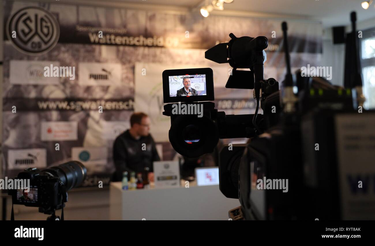Wattenscheid, Deutschland. 14th Mar, 2019. firo: 14.03.2019, Football, Regionalliga West, season 2018/2019, SG Wattenscheid 09, presentation of new sports management Peter NEURURER, | usage worldwide Credit: dpa/Alamy Live News - Stock Image