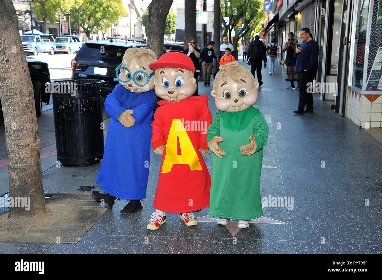 Los Angeles Ca Usa 14th Mar 2019 Alvin And The Chipmunks At The Induction Ceremony For