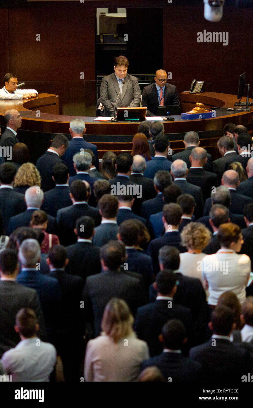 SP - Sao Paulo - 03/15/2019 - Auction of Airports B3 Stock Exchange - The National Civil Avianca Agency, ANAC and B3, Sao Paulo Stock Exchange, hold this Friday the 15th, public session of the auction of the 12 airports of the Northeast blocks, which correspond to Recife, Maceio, Joao Pessoa, Aracaju, Campina Grande and Juazeiro do Norte, Southeast, Vitoria and Macae and Central-West, Cuiaba, Sinop, Rondonopolis and Alta Floresta. The auction took place at the headquarters of the Sao Paulo Stock Exchange, B3. Photo: Suamy Beydoun / AGIF Stock Photo