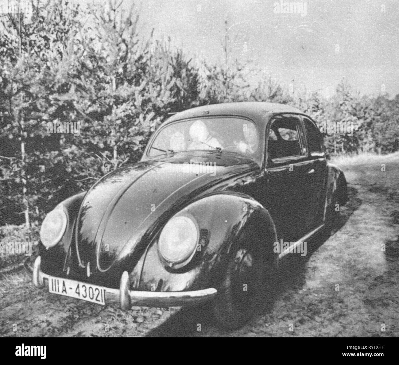 Nazism / National Socialism, organisations, Strenght Through Joy (Kraft durch Freude, KdF), KdF car, view from ahead left, 1939, Additional-Rights-Clearance-Info-Not-Available - Stock Image