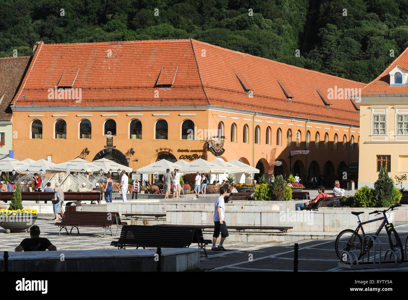 Hirscherhaus (Merchants House) built 1541 1547 on Piata Sfetulei (Council Square) in Brasov, Romania. July 20th 2009 © Wojciech Strozyk / Alamy Stock  - Stock Image