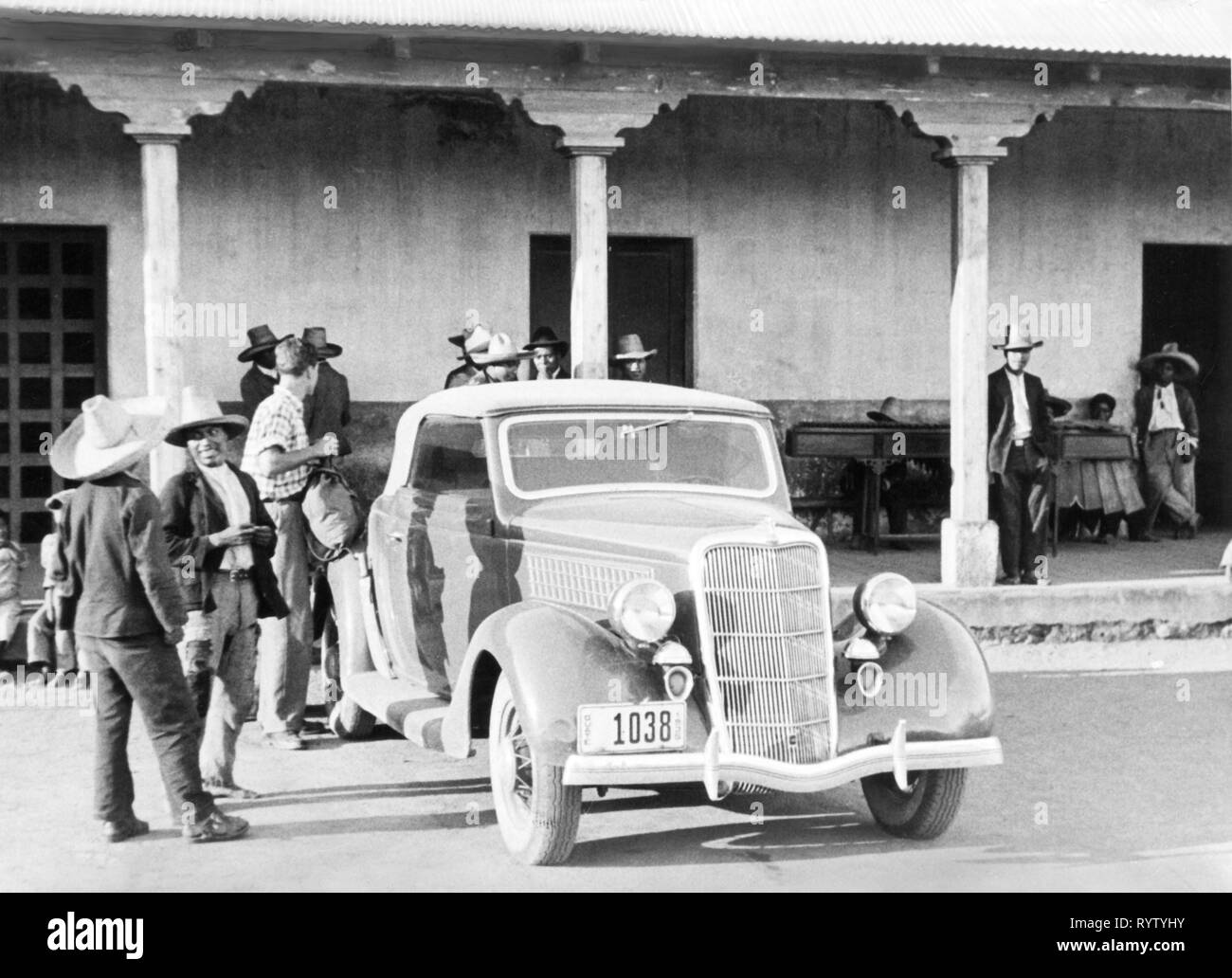 transport / transportation, car, vehicle variants, Ford Model C Junior (1935), in Guatemala, 1951, Additional-Rights-Clearance-Info-Not-Available - Stock Image