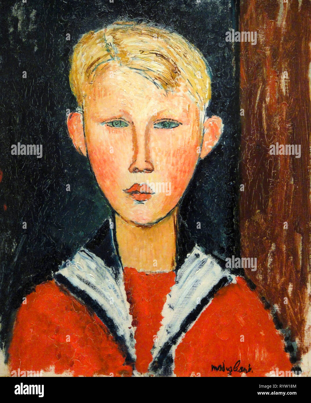 Amedeo Modigliani, The Blue-eyed Boy, portrait painting, 1916 Stock Photo