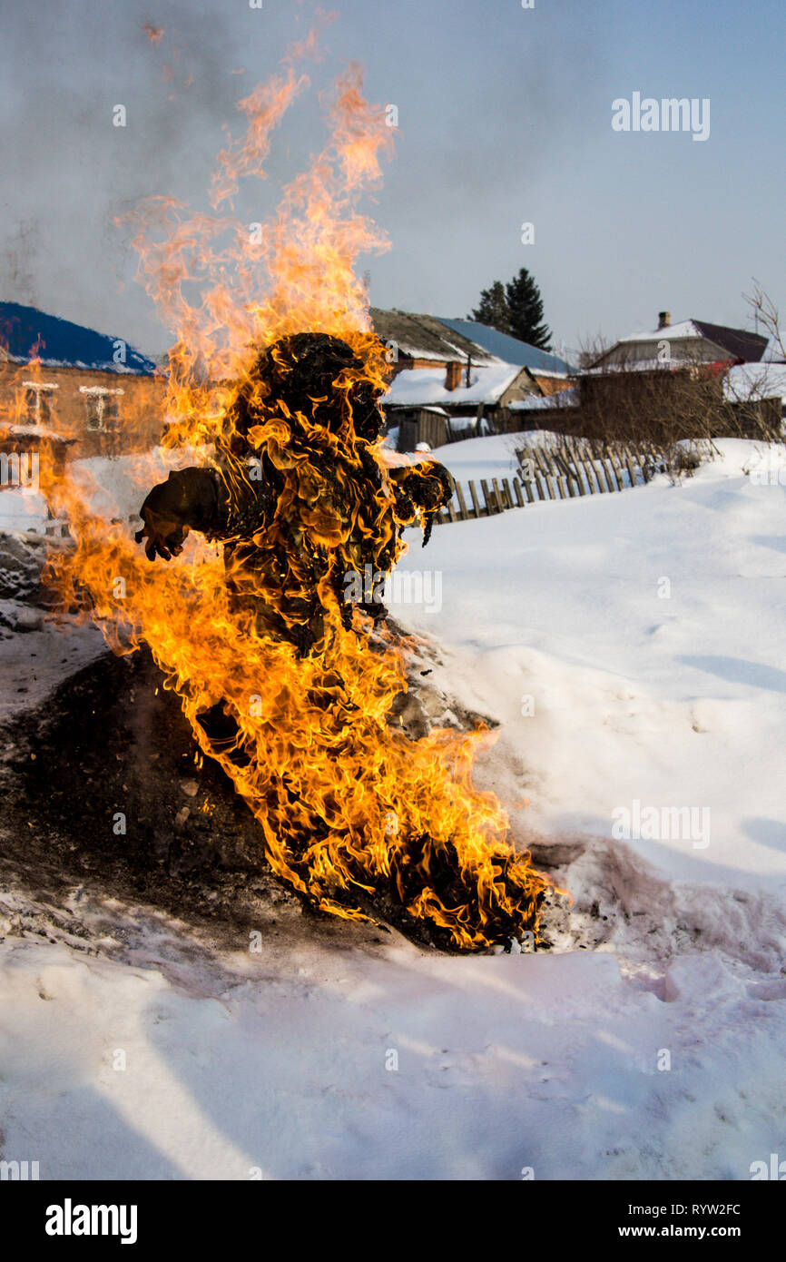 the traditions of pagan Slavic rituals - Stock Image