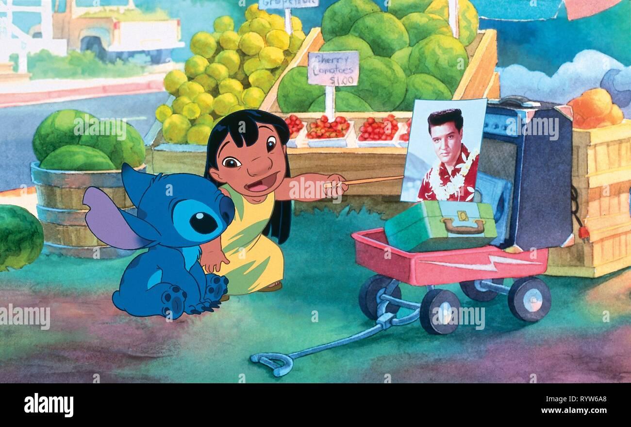 Lilo and Stitch  Year: 2002 USA Director: Dean DeBlois, Chris Sanders Animation Stock Photo