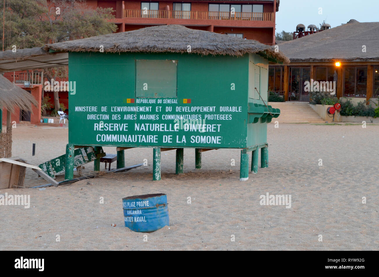 Reserve Naturelle Communautaire de la Somone, Senegal – an example of a community-managed natural reserve - Stock Image