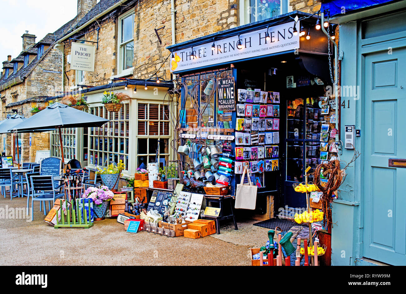 Three French Hens Store, Burford, Oxfordshire, England - Stock Image