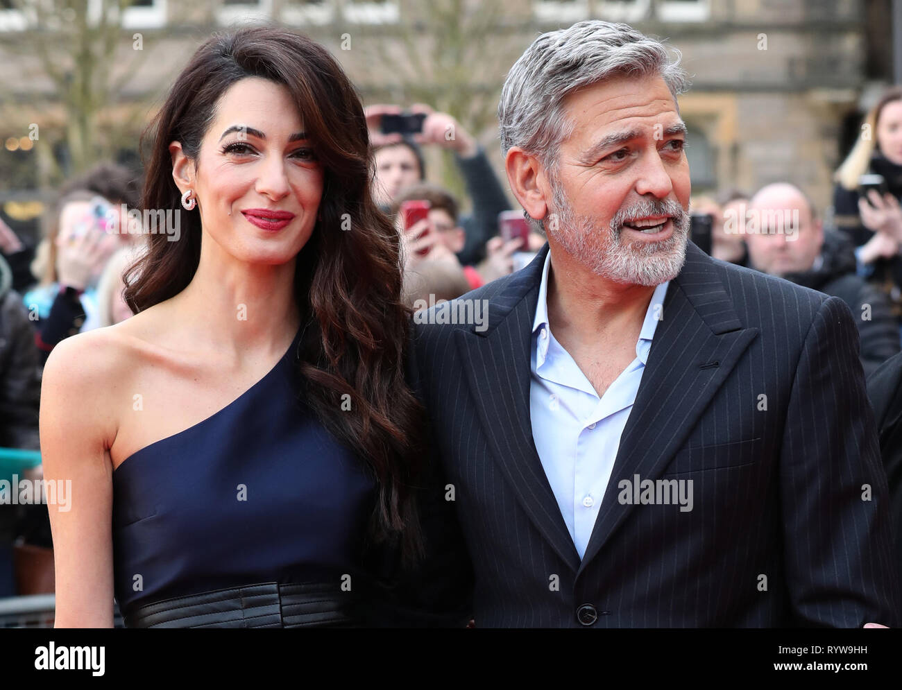 George and Amal Clooney, representing the Clooney Foundation