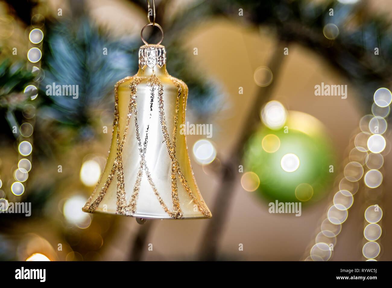 Christbaum Weihnachtsdekoration - Glocke Stock Photo