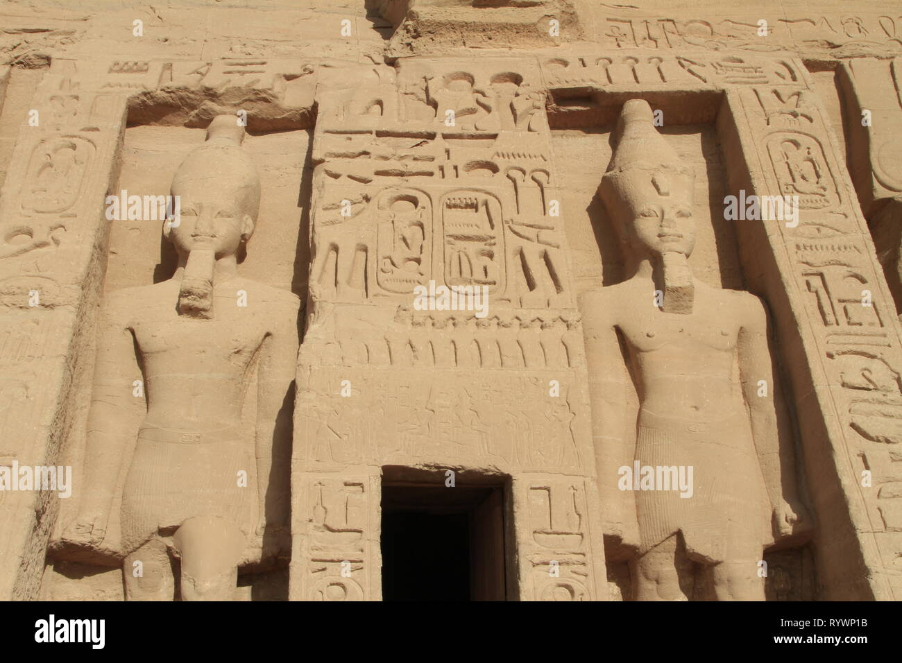 The Small Temple of Hathor and Nefertari, Abu Simbel, Nubia, Upper Egypt, North Africa, Middle East Stock Photo