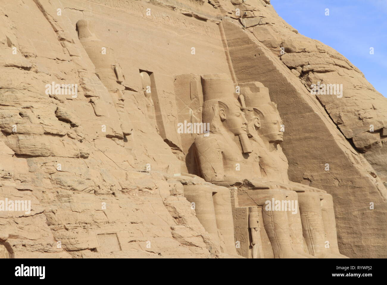 The Great Temple of Ramesses II, Abu Simbel, Nubia, Upper Egypt, North Africa, Middle East Stock Photo