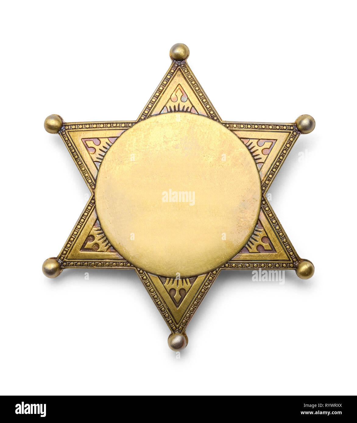 Old West brass star Lawman Police Badge: Deluxe Deputy Sheriff