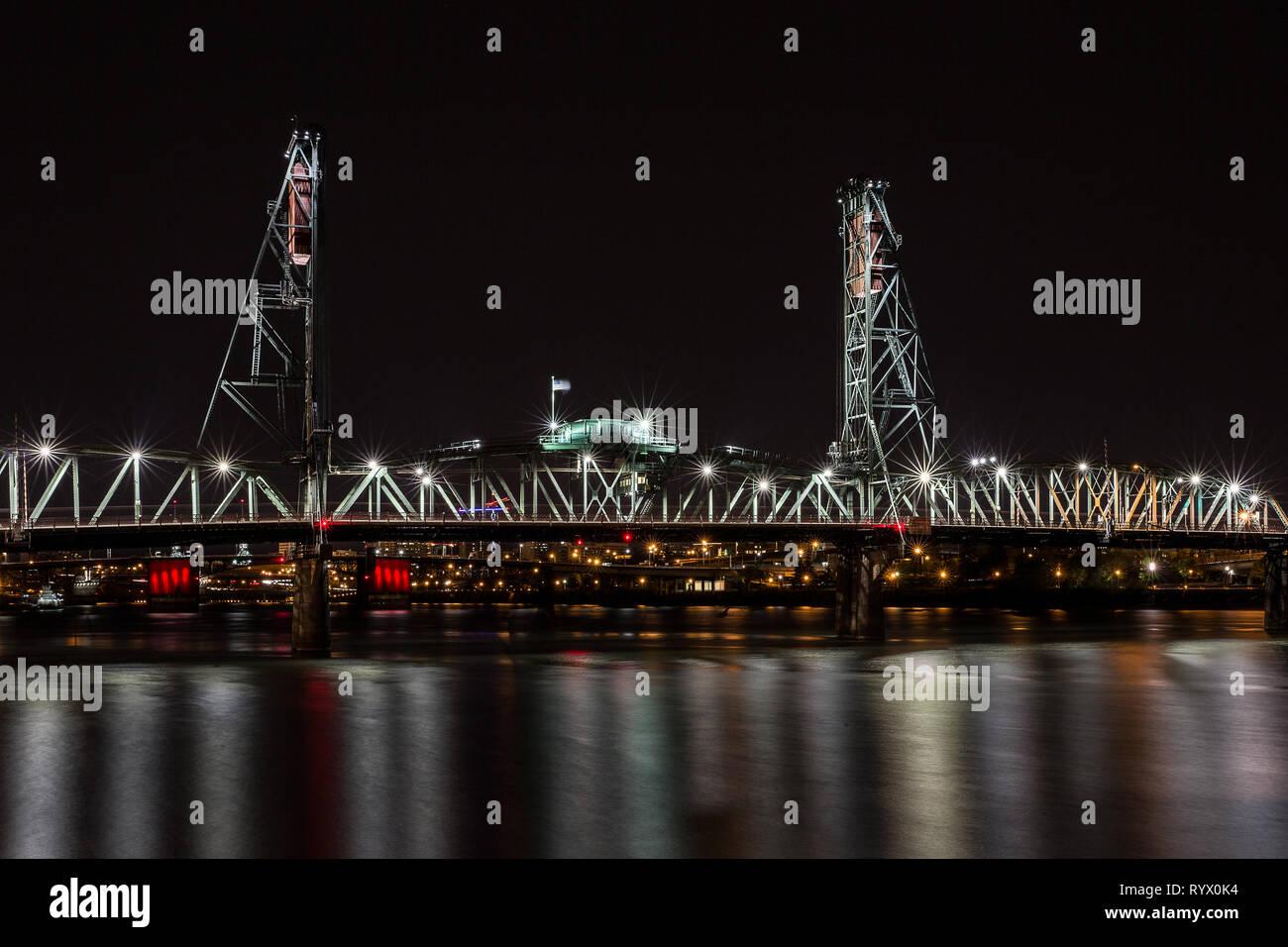 Portland's Famous Bridges Stock Photo