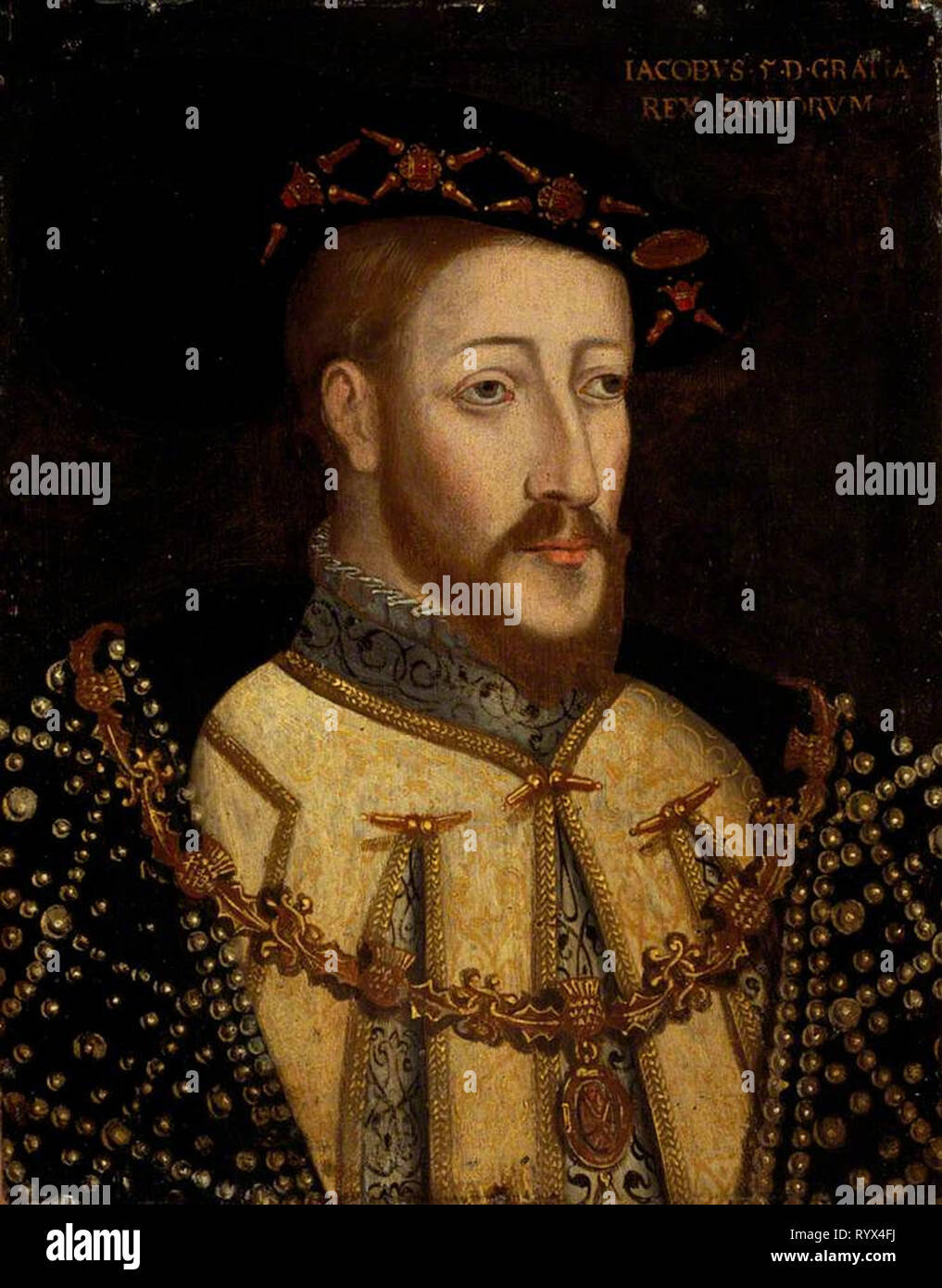 Henry VIII was King of England from 1509 until his death in 1547. Henry was the second Tudor monarch, succeeding his father, Henry VII. Henry is best known for his six marriages - Stock Image