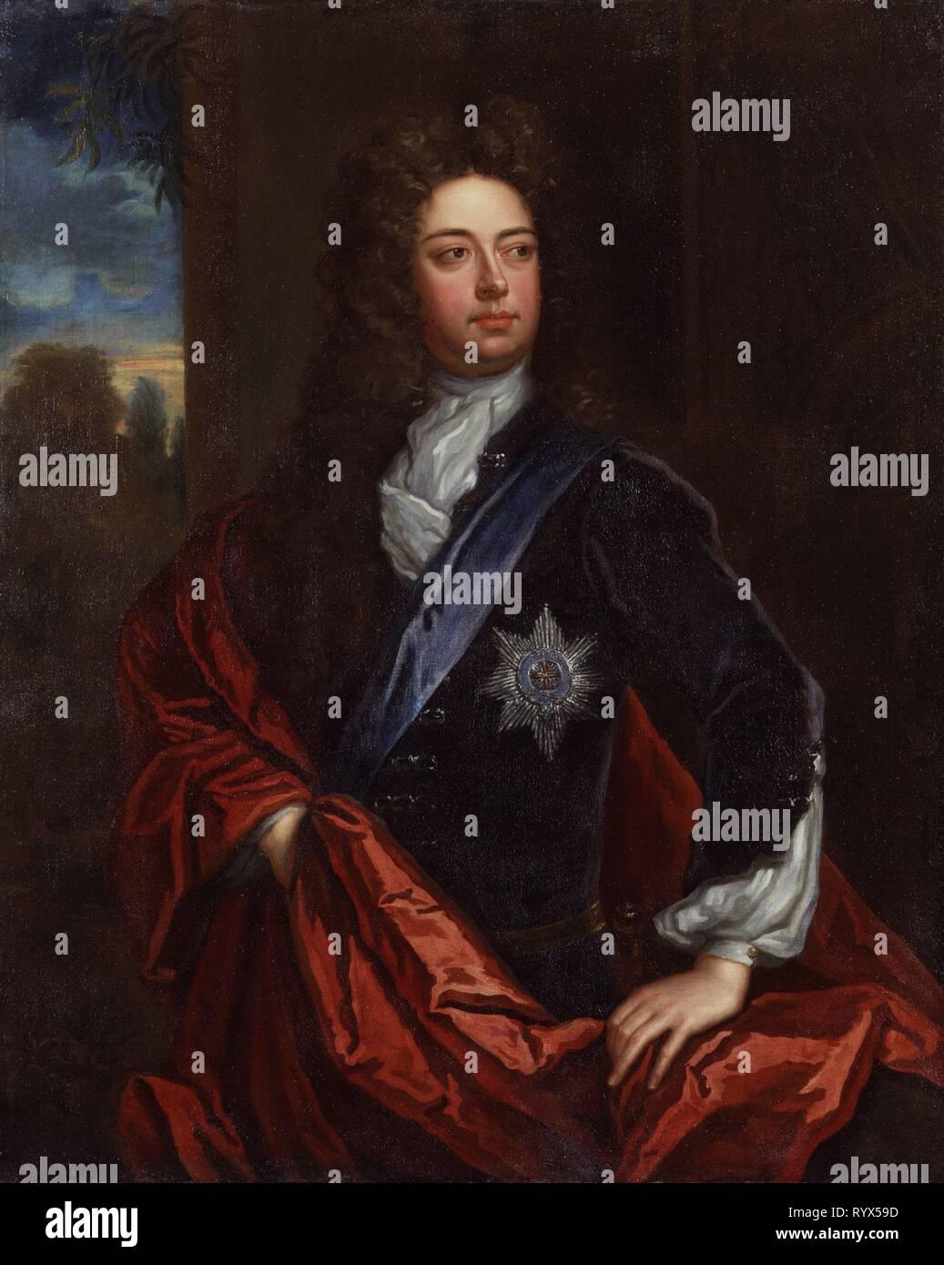 John-Churchill-1st-Duke-of-Marlborough-Sir-Godfrey-Kneller-oil-painting - Stock Image