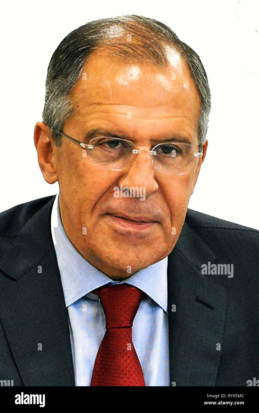 Sergey Wiktorowitsch Lavrov - *21.03.1950 - Russian politician and Foreign Minister of the Russian Federation. - Stock Image