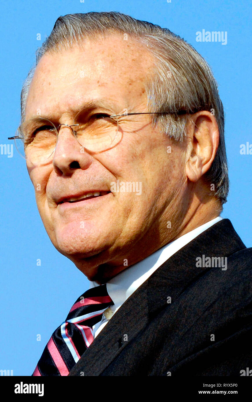 Donald Rumsfeld - *09.07.1932: American Politician and 21th United States Secretary of Defense from 2001 to 2006. - Stock Image