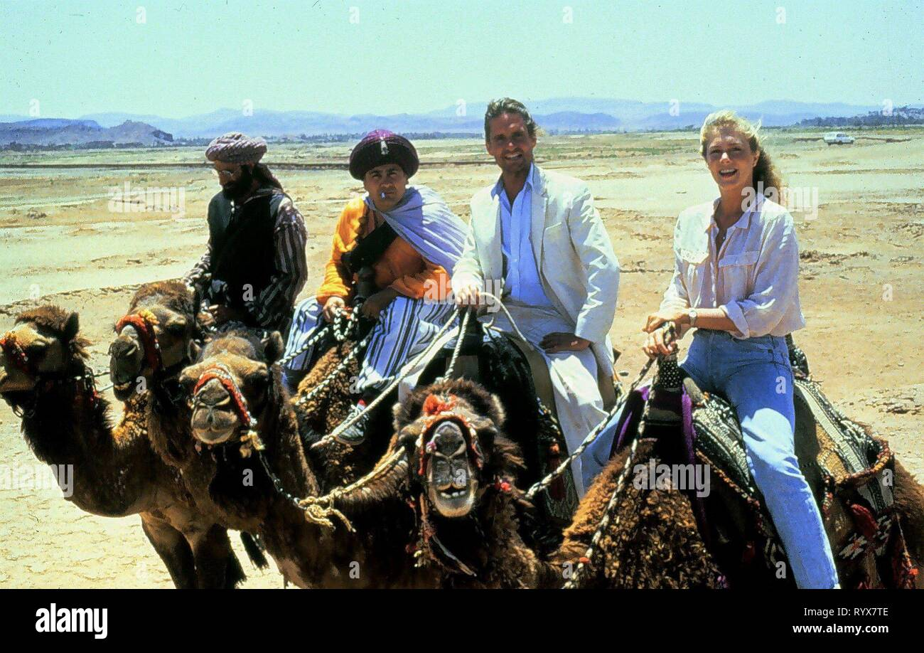 EISENBERG,DEVITO,DOUGLAS,TURNER, THE JEWEL OF THE NILE, 1985 Stock Photo