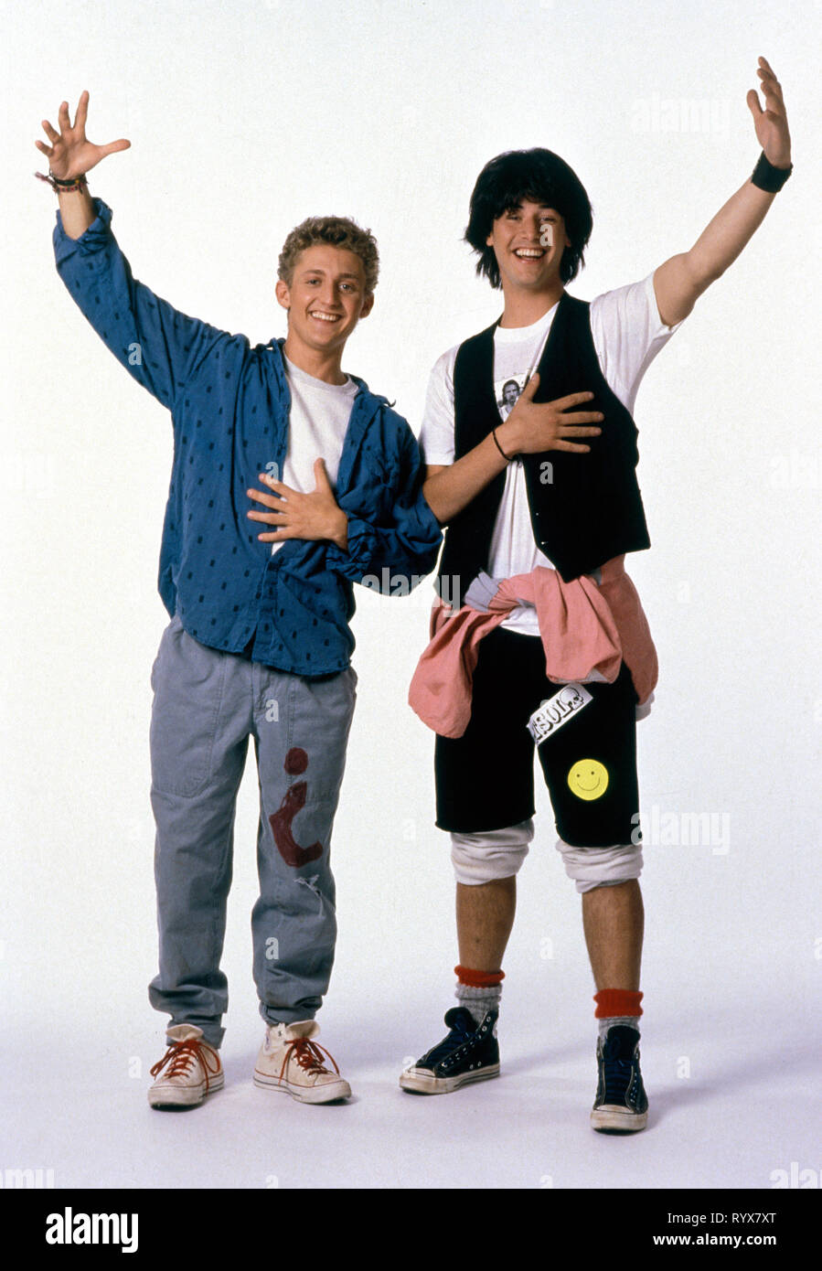 WINTER,REEVES, BILL and TED'S EXCELLENT ADVENTURE, 1989 - Stock Image