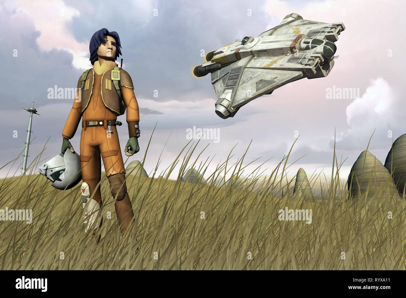 EZRA BRIDGER, STAR WARS REBELS, 2014 - Stock Image