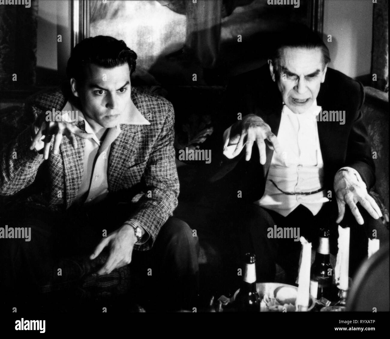 JOHNNY DEPP, MARTIN LANDAU, ED WOOD, 1994 - Stock Image