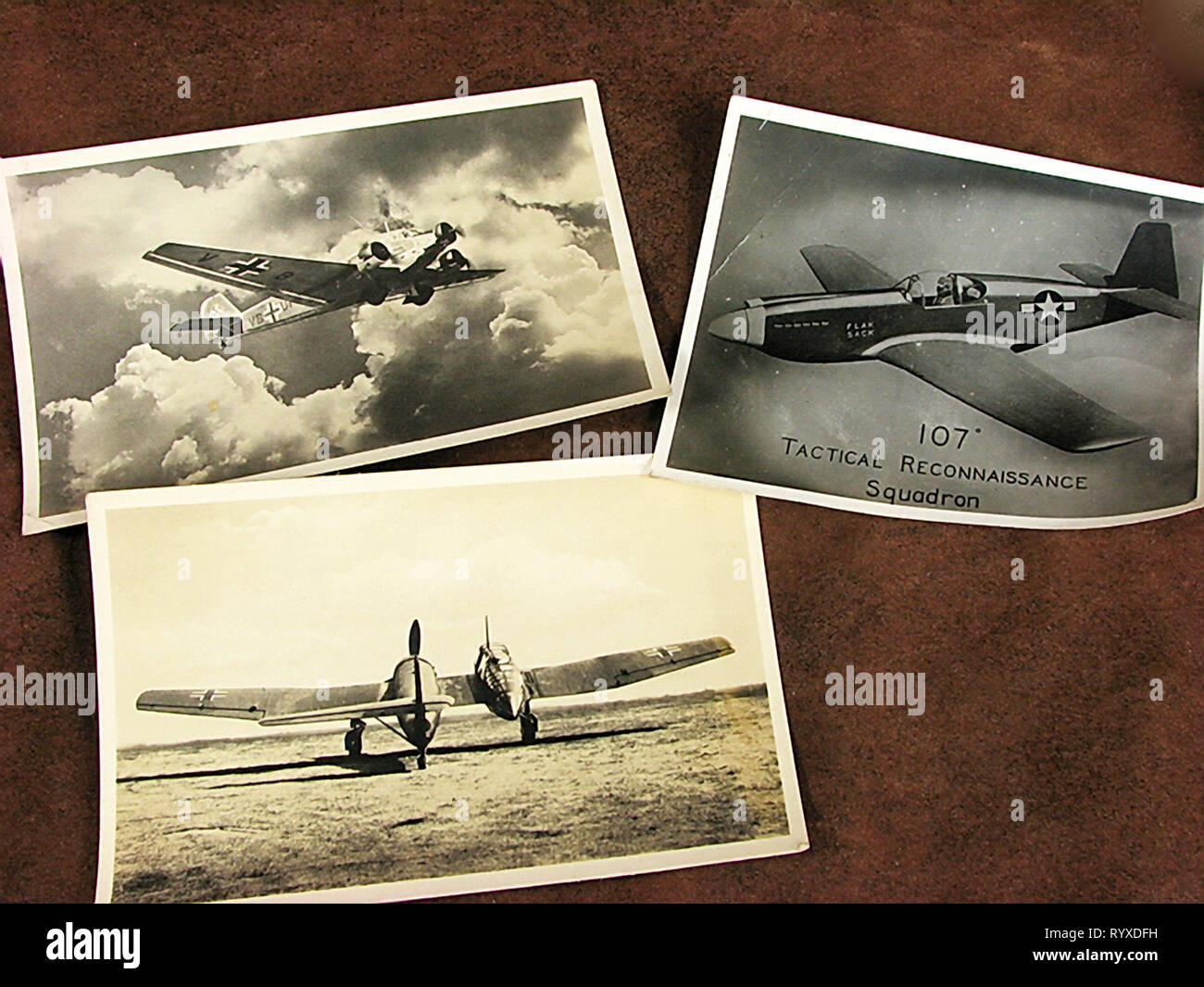 Personal photographs and memorabilia of fighting Americans during the Second World War. Stock Photo