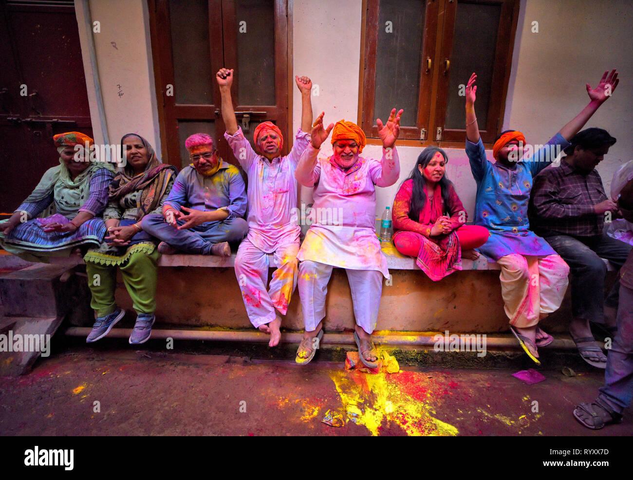 Barsana, Uttar Pradesh, India  15th Mar, 2019  Devotees seen