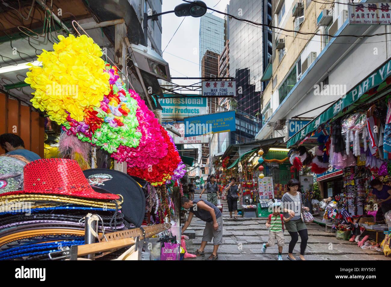 aec00426593 Market stall on Pottinger Street, Central, Hong Kong, SAR, China ...