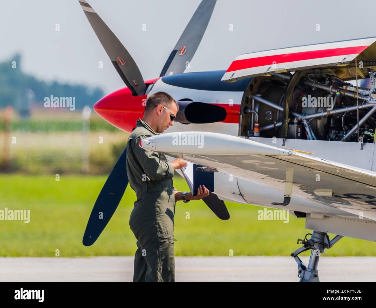 Pilatus PC9 PC-9 of Krila oluje Wings of storm Stock Photo