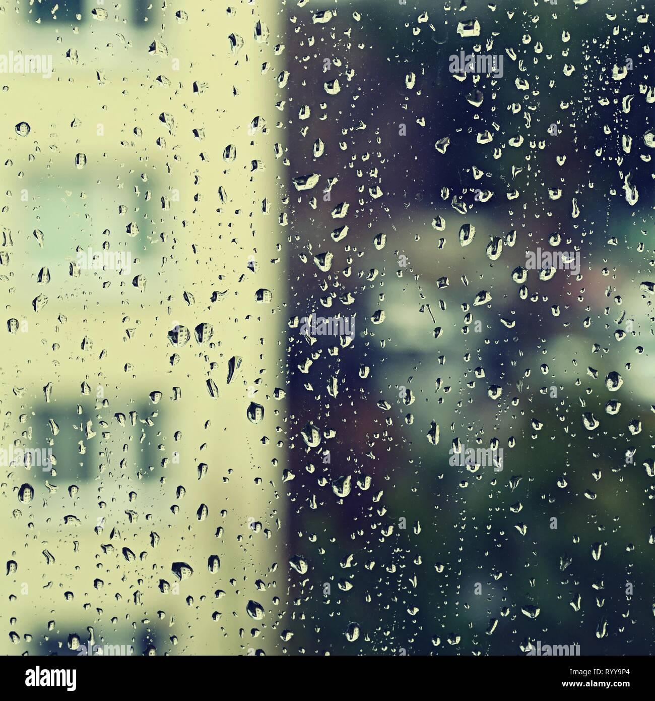 Window Drops Beautiful Background For Rain And Bad Weather Stock Photo Alamy
