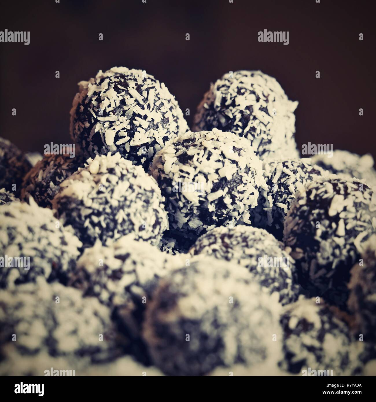 Rum Balls Traditional Czech Christmas Cookies Cocoa Coated In