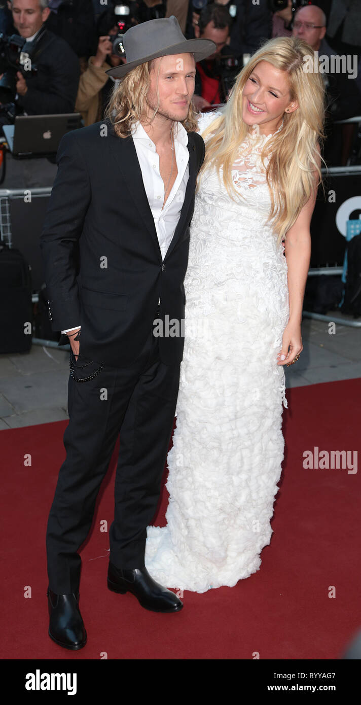 Sep 02, 2014 - London, England, UK - GQ Men of the Year Awards 2014, Royal Opera House, Covent Garden Photo Shows: Dougie Poynter; Ellie Goulding Stock Photo