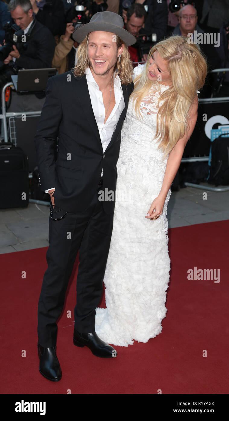 Sep 02, 2014 - London, England, UK - GQ Men of the Year Awards 2014, Royal Opera House, Covent Garden Photo Shows: Dougie Poynter; Ellie Goulding Stock Photo